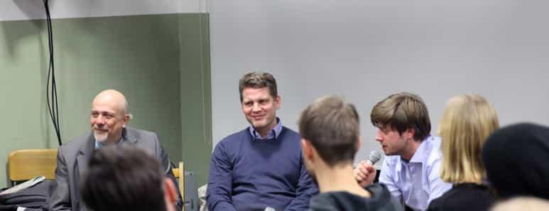 Sebastian Esser von Krautreporter bei FREITAG am Donnerstag.