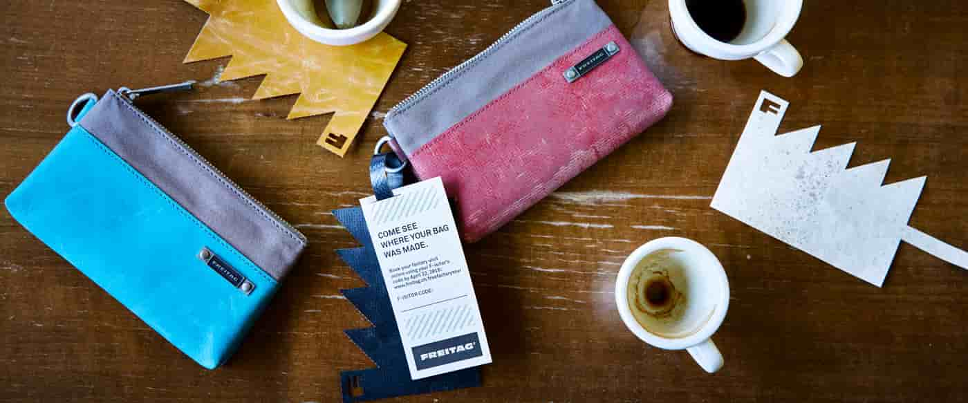 FREITAG R306 GRIP POUCH AND FACTORY TOUR TICKET
