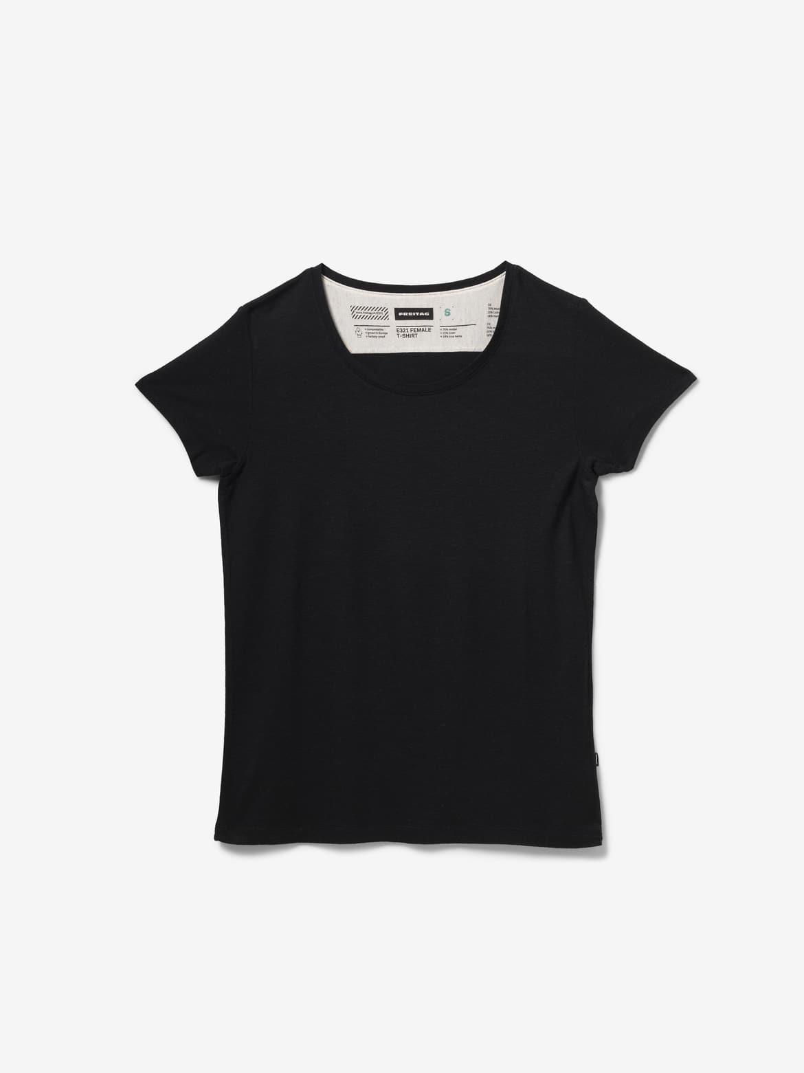 E321 FEMALE T-SHIRT, Black