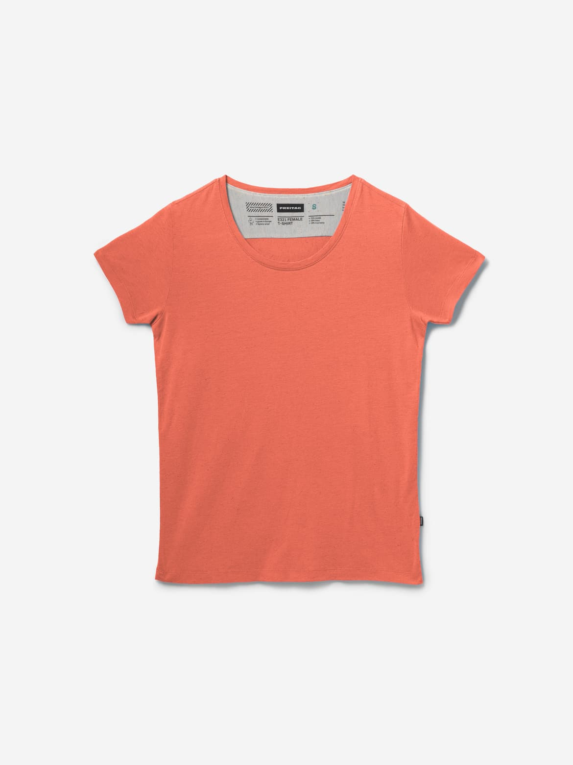 E321 FEMALE T-SHIRT, Orange Glow